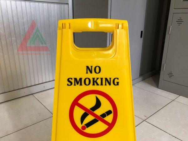 Biển báo sàn cấm hút thuốc