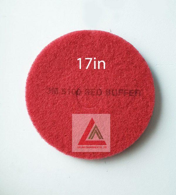 Pad chà sàn 3M màu đỏ 17in