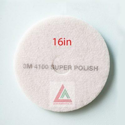 Pad chà sàn 3M màu trắng 16in