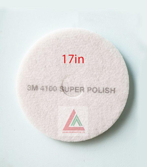 Pad chà sàn 3M màu trắng 17in