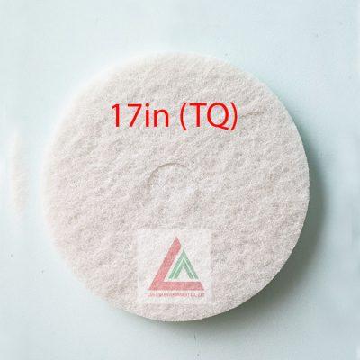 Pad chà sàn TQ màu trắng 17in