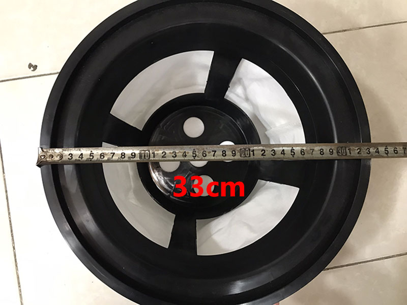 Kích thước phễu lọc bụi máy hút bụi 30L
