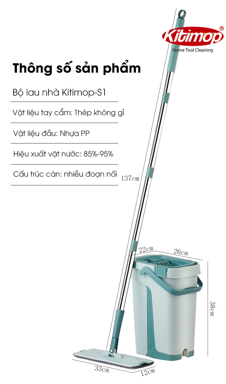 Bộ Lau Nhà Kitimop S1 13