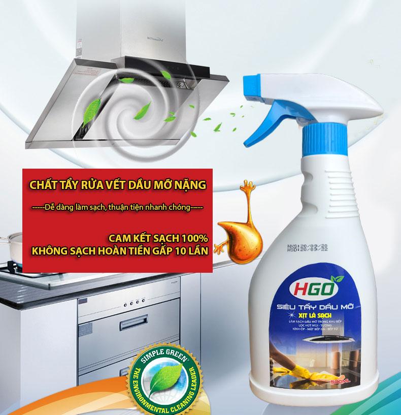 Nước tẩy dầu mỡ HGO 1