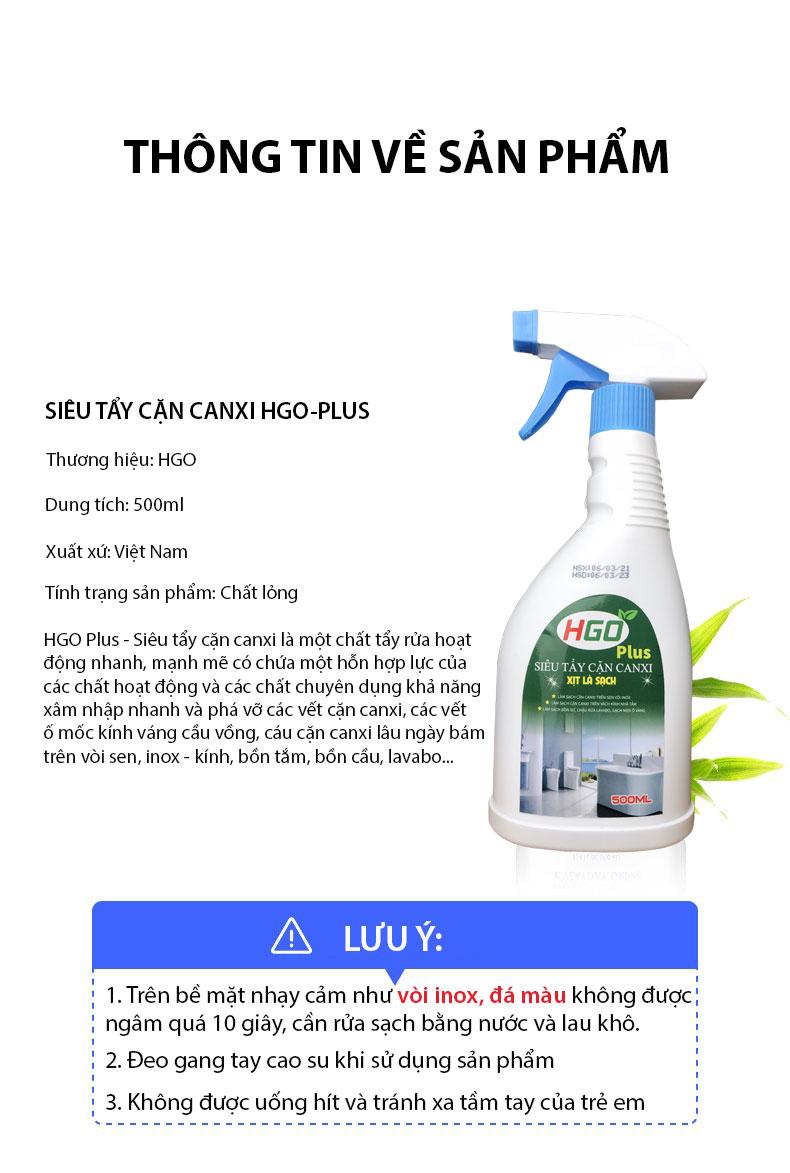 nước tẩy cặn canxi hgo plus 12-1