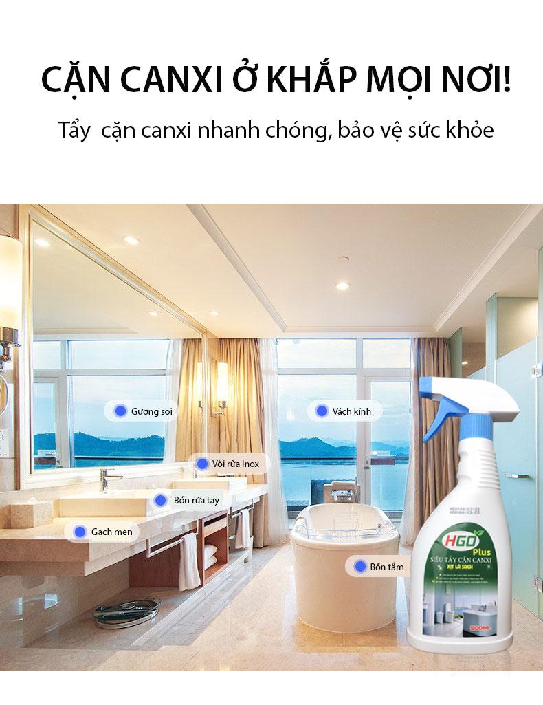 Nước Tẩy Cặn Canxi Hgo Plus 3