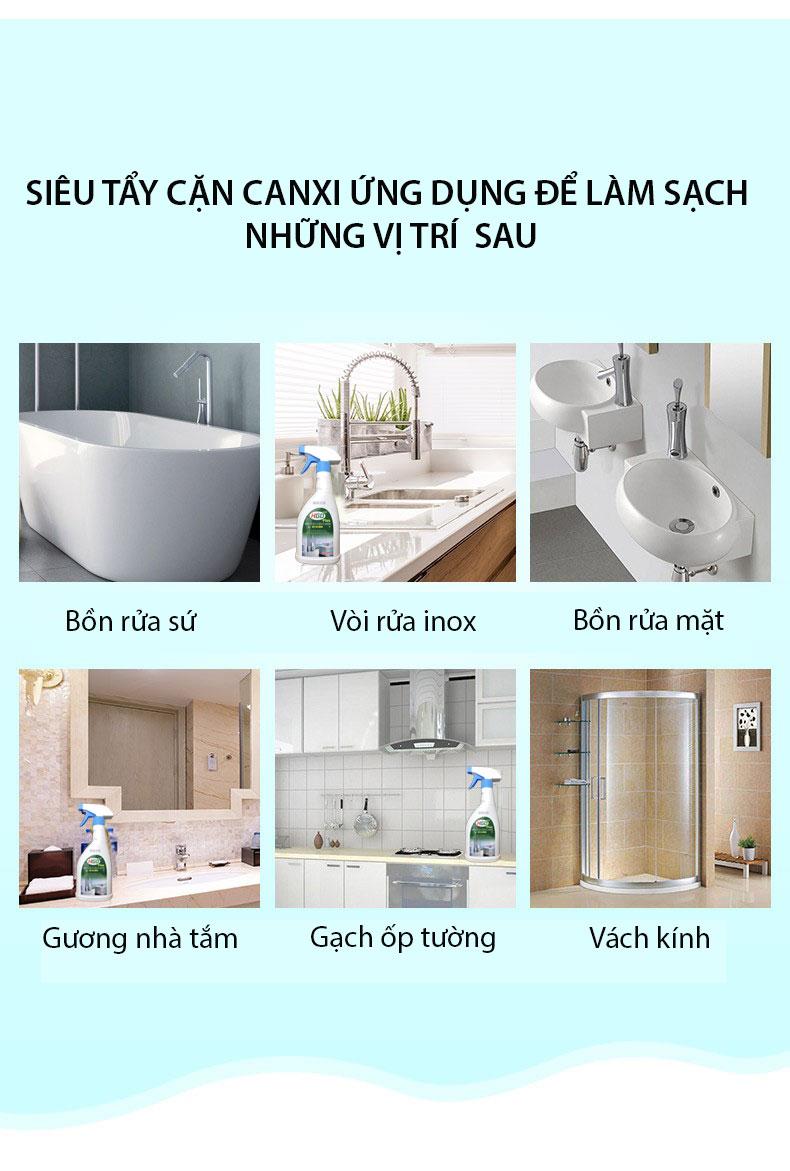 nước tẩy cặn canxi hgo plus 8